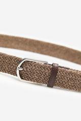 Базовий плетений ремінь коричневого кольору