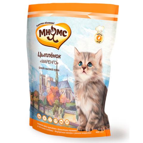 МНЯМС Сухой корм для котят с нежным мясом цыпленка с душистыми травами и лесными ягодами