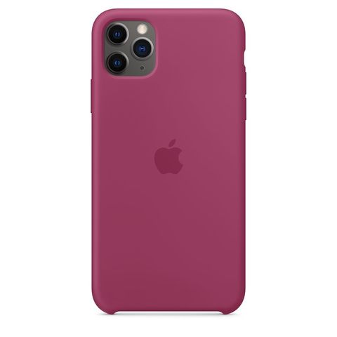 Чехол силиконовый для Apple iPhone 11 Pro Silicone Case - Pomegranate (Гранат)