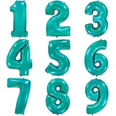 Фольгированные цифры тиффани