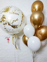 Бело золотые шарики