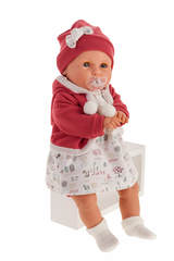 Munecas Antonio Juan Мягконабивная кукла Бенита в красном (плачет), 55 см (1902)