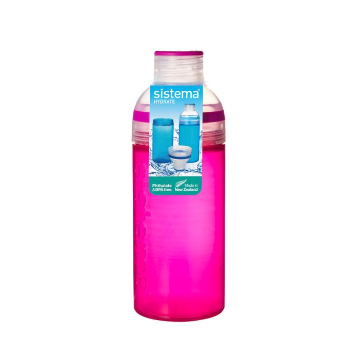 """Бутылка для воды Sistema """"Hydrate"""" 700 мл, цвет Розовый"""