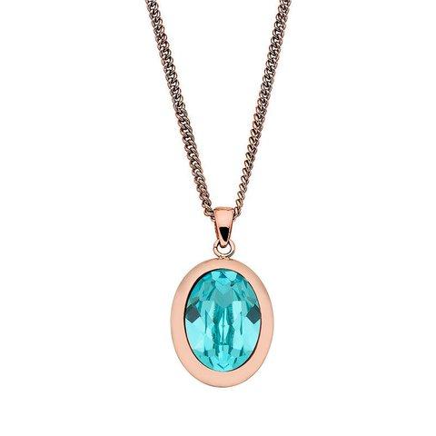 Колье Tivola Light Turquoise 404574.1 BL/RG