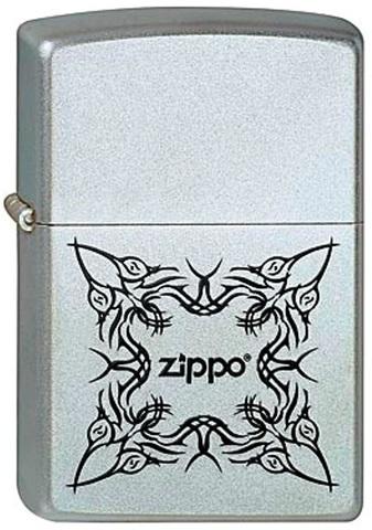 Зажигалка Zippo №205 Tattoo Design с покрытием Satin Chrome, латунь/сталь, серебристая, матовая123