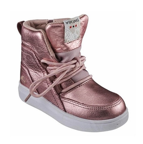 Полуботинки Viking Smilla Mid WP Metallic/Dusty Pink демисезонные
