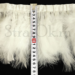 Купить оптом перья Марабу на ленте  Ivory Светло-Кремовый в интернет-магазине