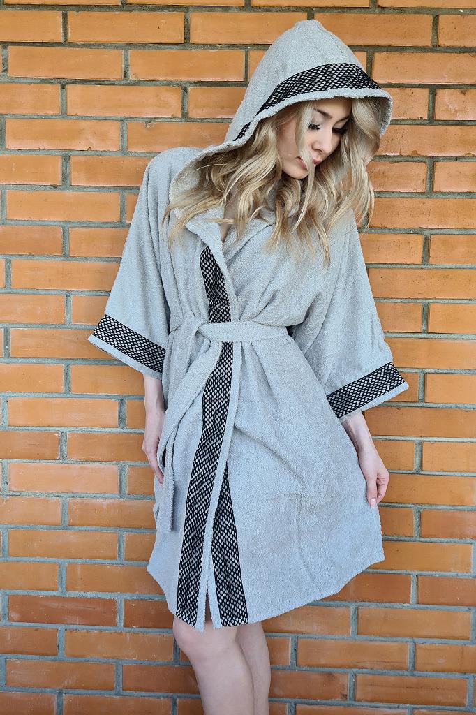 Махровое кимоно с капюшоном Luna di Giorno