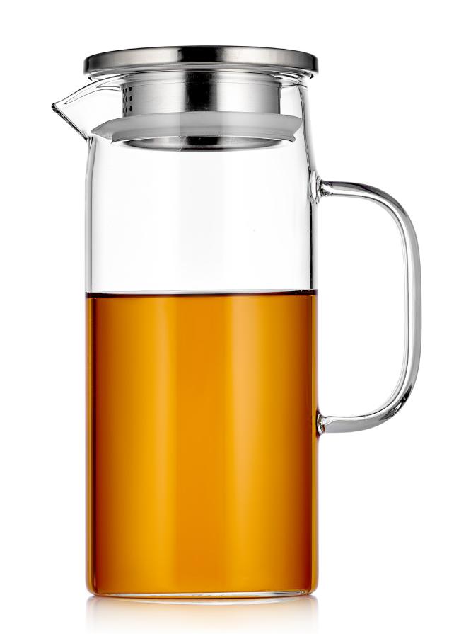 Кувшины, графины (для горячих и холодных напитков) Кувшин для воды Zeus Glaffe с фильтром в крышке стеклянный, 1200 мл 4-011-1000.PNG