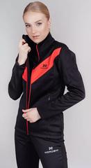 Теплая лыжная куртка Nordski Base 2021 Black-Red женская