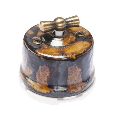Выключатель двухклавишный, для наружного монтажа. Цвет Экзотик. Salvador. OP21EX