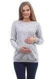 Свитшот для беременных и кормящих 10000 серый