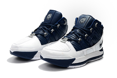 Nike Zoom LeBron 3 'White/Navy'