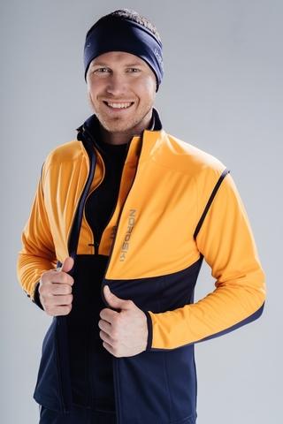 Жилет разминочный Nordski Premium Orange/Blueberry мужской