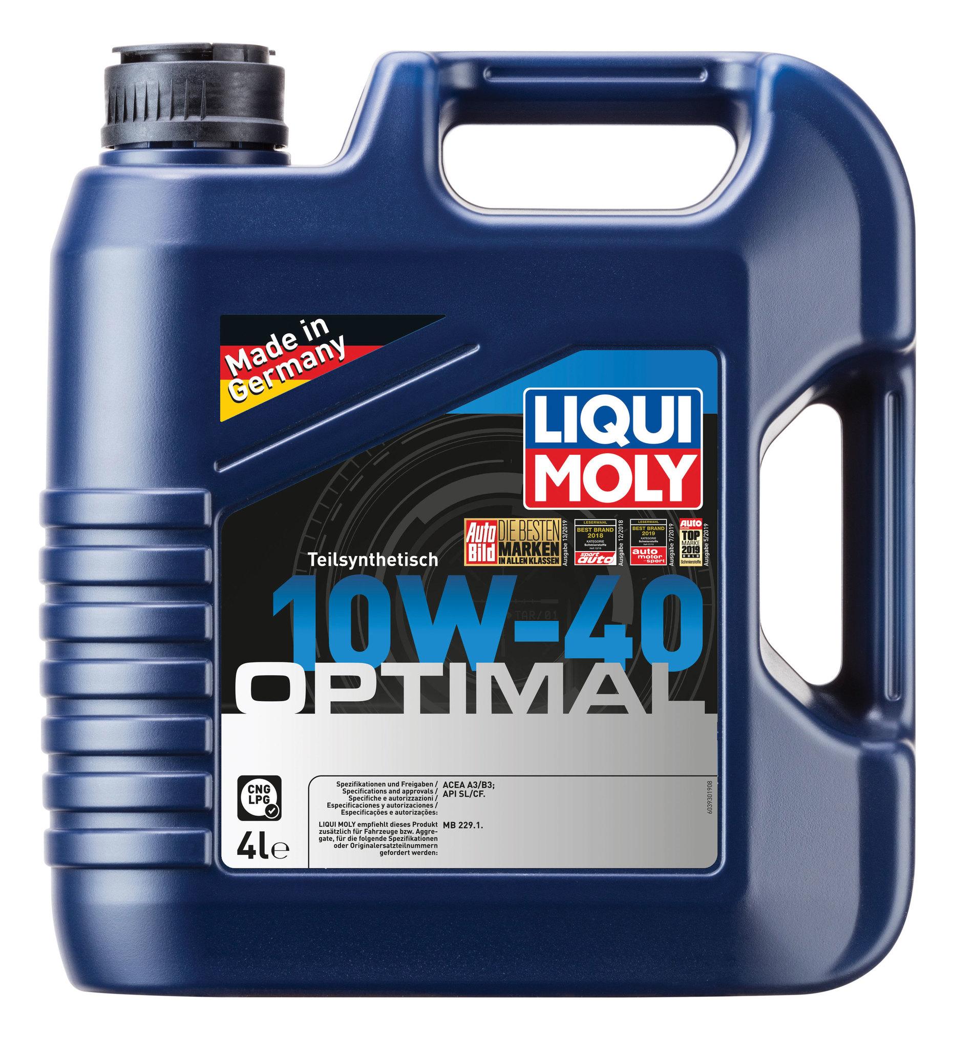 Liqui Moly Optimal 10W40 Полусинтетическое моторное масло