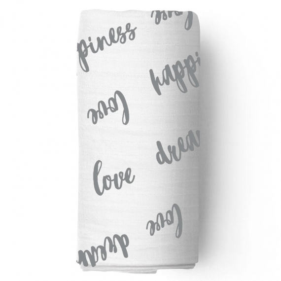 Пеленка муслиновая Adam Stork Happiness