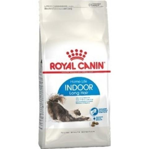 Royal Canin Indoor Long Hair сухой корм для длинношерстных кошек, живущих в помещении 400г