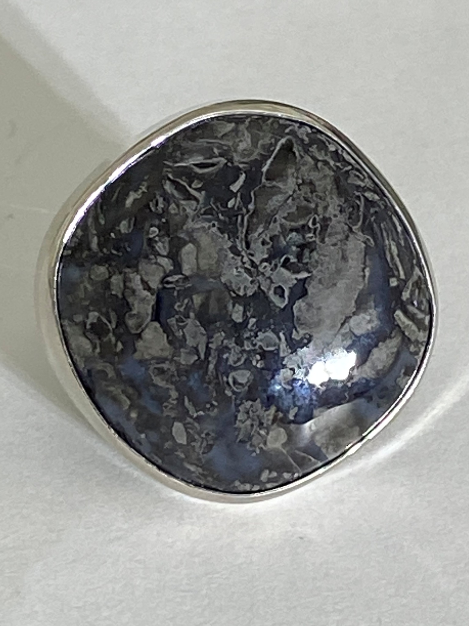 Яшма квадрат (кольцо из серебра)