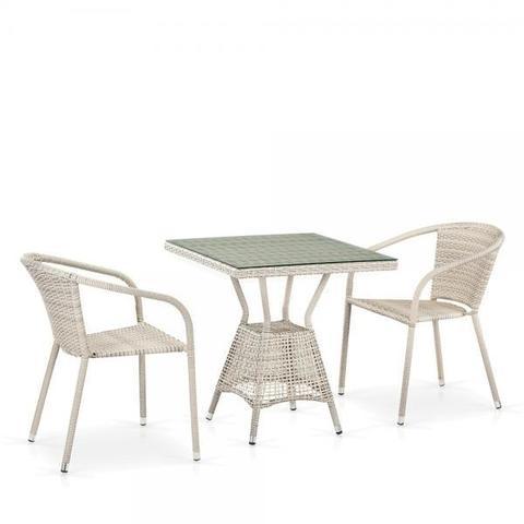 Комплект плетеной мебели из искусственного ротанга T706/Y137C-W85 2Pcs Latte