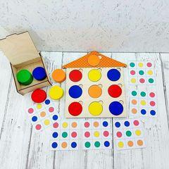 Теремок с набором цветных кругов Нейромаг