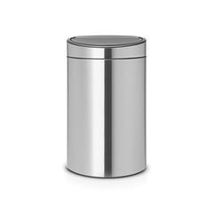 Двухсекционный мусорный бак Touch Bin New (10/23 л), Стальной матовый