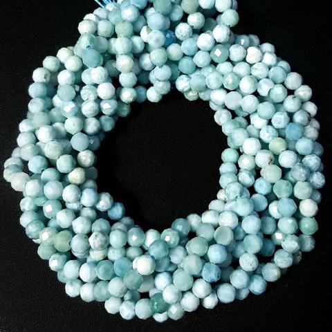 Бусины ларимар граненый 4 мм цена за 52 бусины (~19 см)