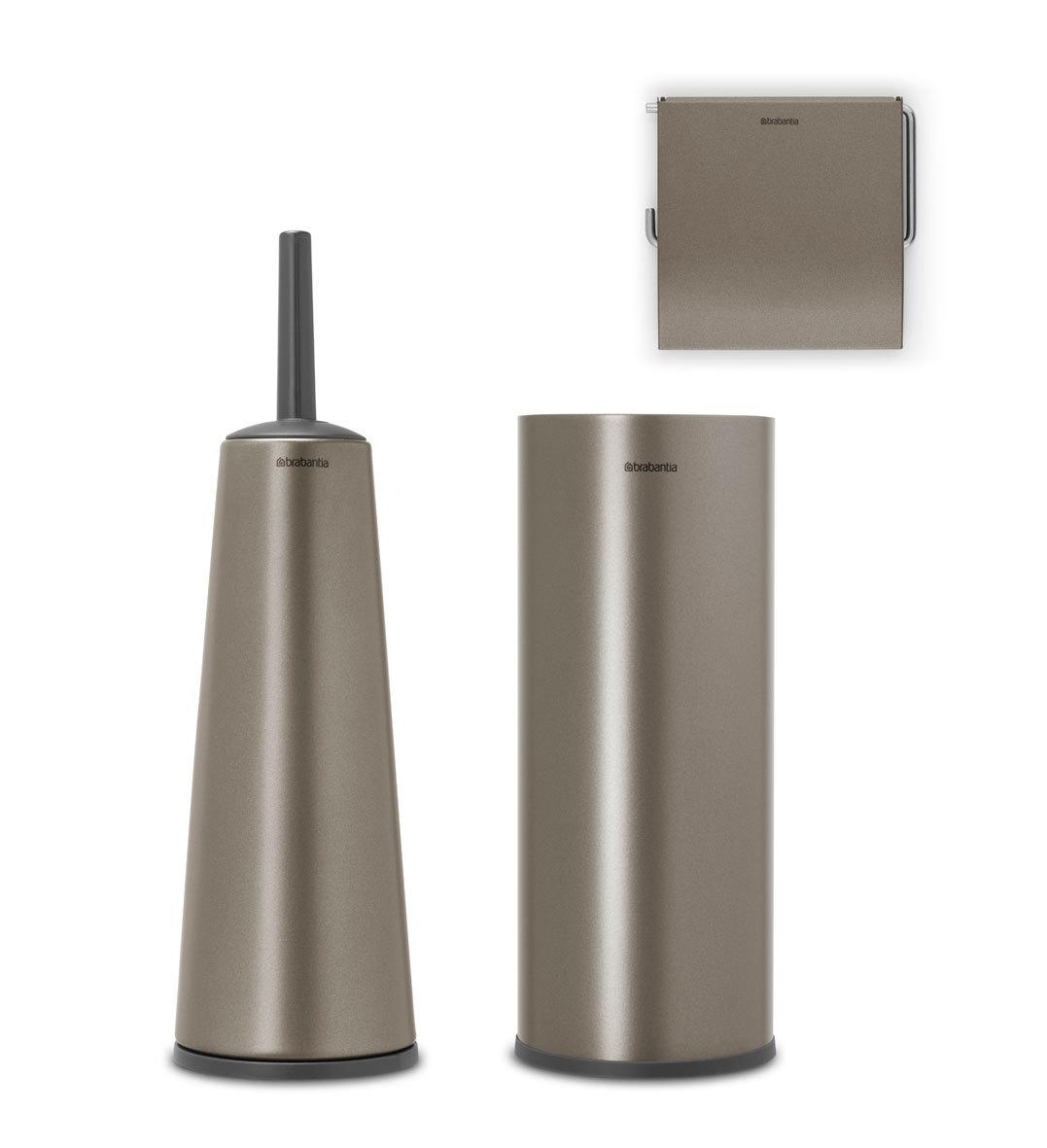 Набор аксессуаров для туалетной комнаты ReNew, 3 пр., Платиновый, арт. 280641 - фото 1