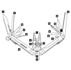 Мультитул Leatherman Super Tool 300 EOD схематическое изображение | Multitool-Leatherman.Ru