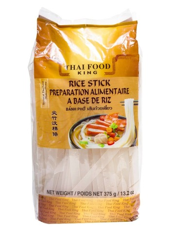 Лапша рисовая 10 мм Thai Food King 375 гр.