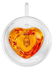 """Стеклянная кружка сердечком с двойными стенками """"Сердце"""" 240 мл"""