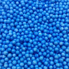 Шарики пенопласт, Голубой, крупные, Диаметр от 5 до 8 мм, 10гр
