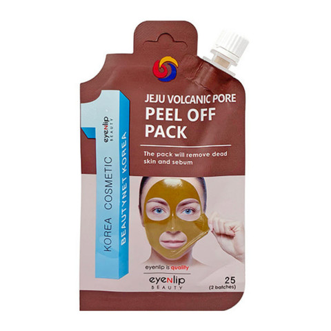 Маска-пленка очищающая EYENLIP POCKET VOLCANIC PORE PEEL OFF PACK 25 гр