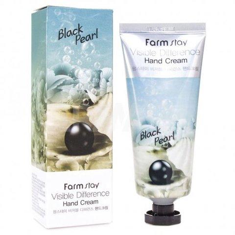 FarmStay Крем для рук с черным жемчугом Visible Difference Hand Cream Black Pearl, 100 мл