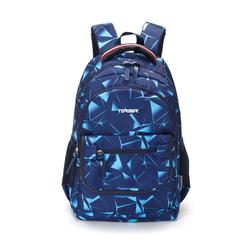 Рюкзак Torber Class X 15,6'', темно-синий с орнаментом, 45x30x18 см