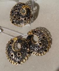 Пава  (кольцо + серьги из серебра)