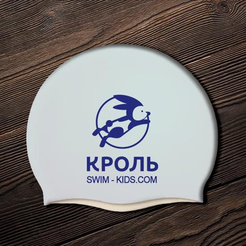 Шапочка для плавания детей силиконовая с дизайном