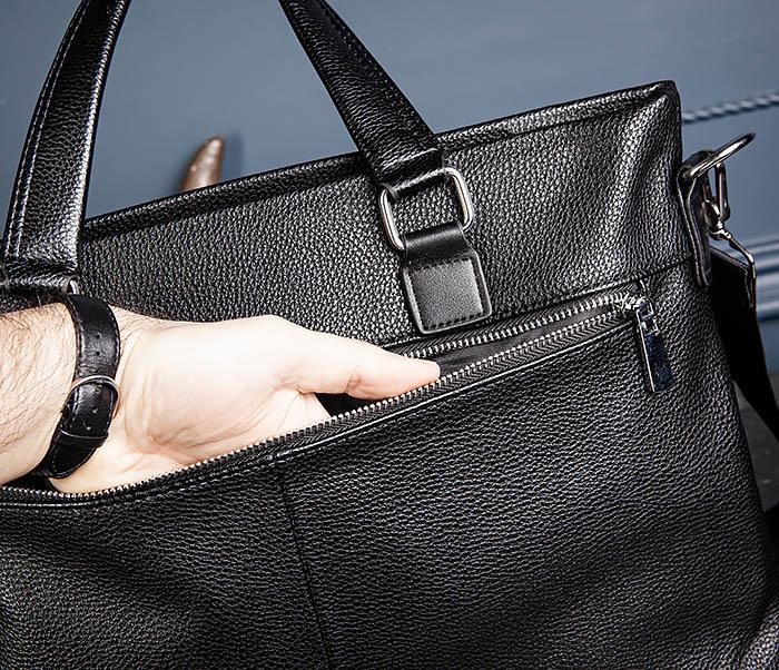 BAG533-1 Мужской портфель с ремнем на плечо фото 09