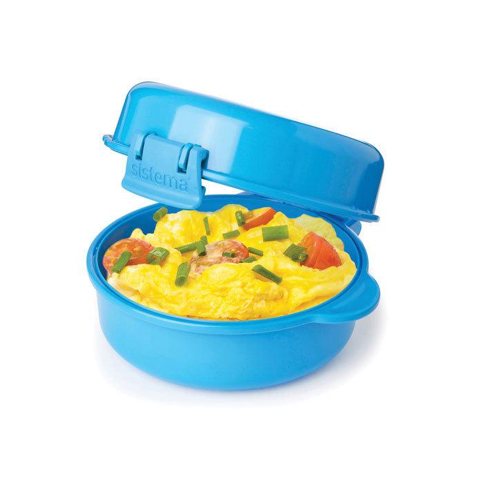 "Омлетница-яйцеварка для СВЧ Sistema ""Microwave"" 271 мл, цвет Голубой"
