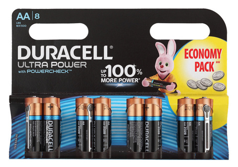 Батарея Duracell Ultra LR6-8BL MX1500 AA (8шт)
