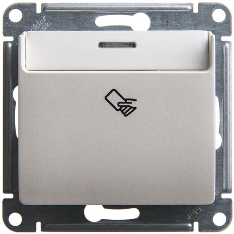 Карточный выключатель. Цвет Перламутр. Schneider Electric Glossa. GSL000669
