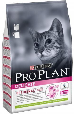 Корм для кошек Purina Pro Plan Delicate при чувствительном пищеварении, с ягненком 3 кг
