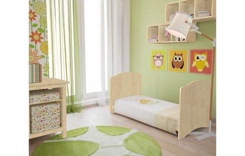 Кроватка детская Polini kids Simple 140х70 см, натуральный