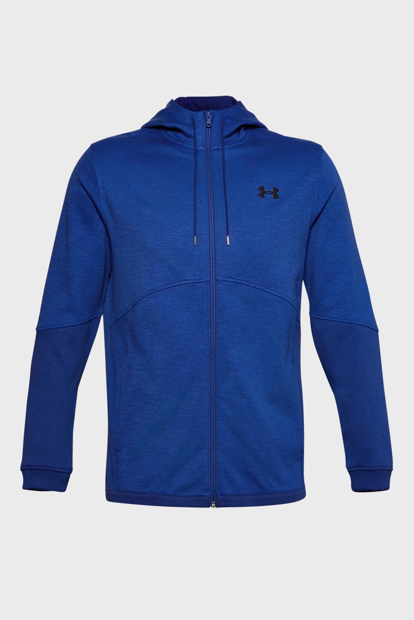 Мужское синее спортивное худи DOUBLE KNIT FZ HOODIE Under Armour