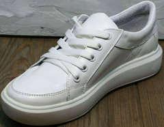 Женские белые кеды кроссовки для повседневной жизни Maria Sonet 274k All White.