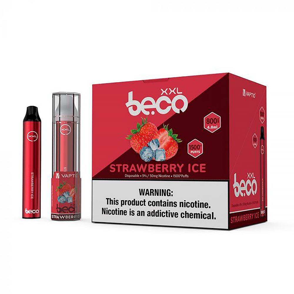 Одноразовая электронная сигарета Beco XXL Strawberry Ice (Освежающая клубника)