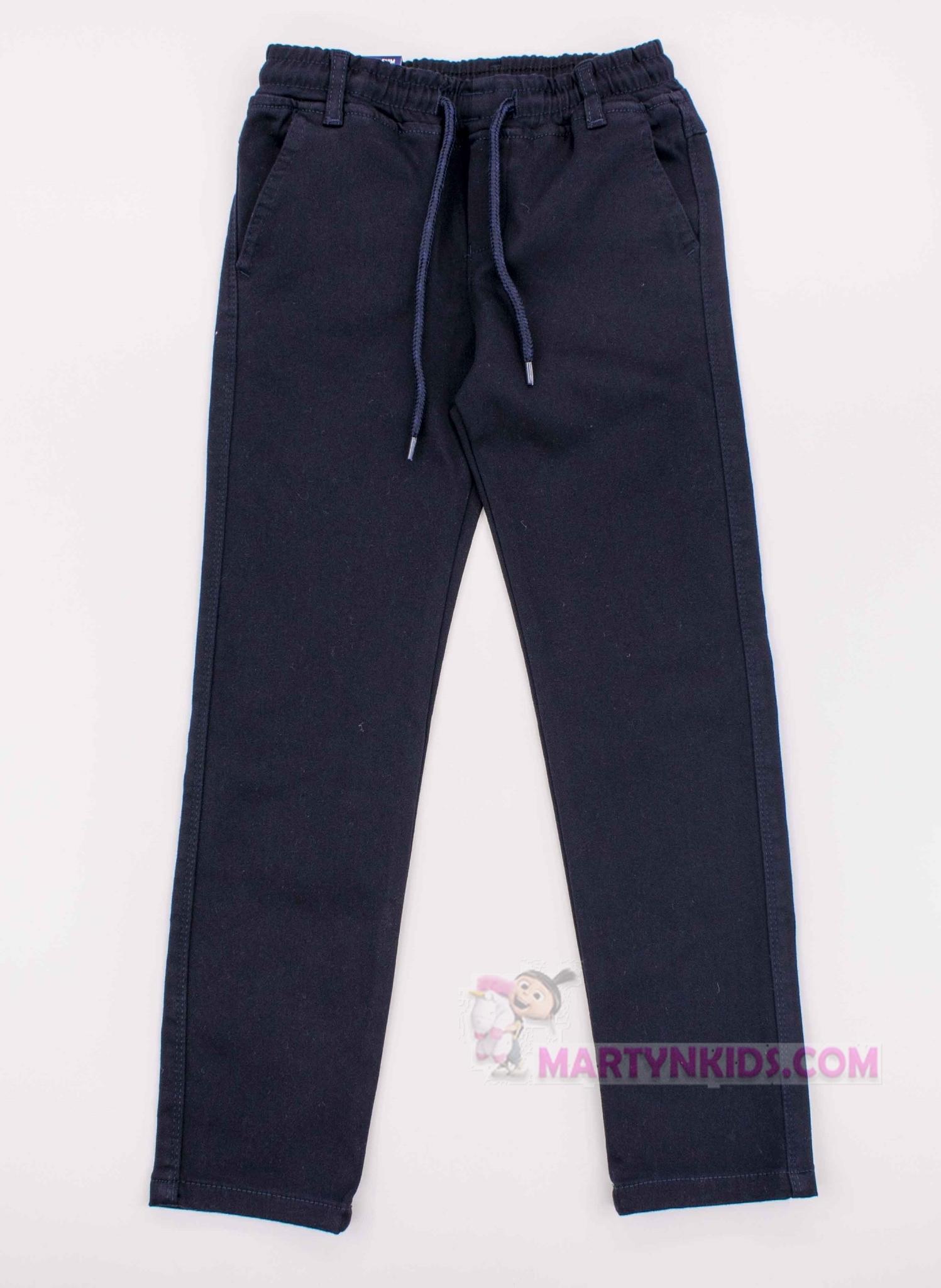 3837 штаны на флисе GOGER школа резинка