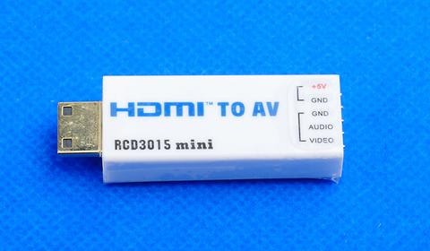 Конвертер RCD3015 HDMI / miniHDMI to AV