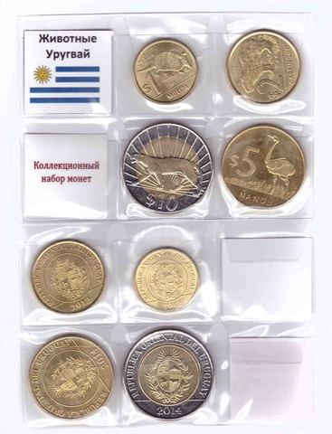 Набор монет: Животные Уругвай 2012-2014 г