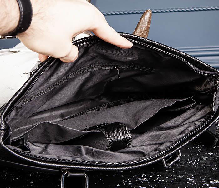 BAG533-1 Мужской портфель с ремнем на плечо фото 11