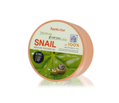 Увлажняющий успокаивающий гель c муцином улитки FarmStay Snail Moisture Soothing Gel 300 мл